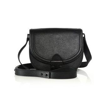 Loeffler Randall Black Leather Saddle Bag